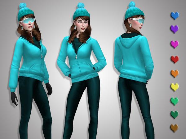 Sims 4 Winter sport jacket by Simalicious at TSR