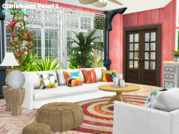Sims 4 Caribbean Pearl 2 house by Pralinesims at TSR