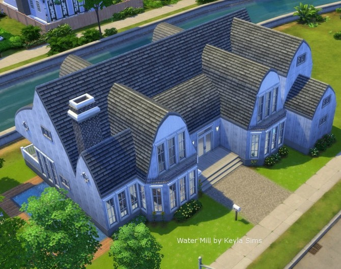 Sims 4 Water Mill with in and out swiming pool at Keyla Sims