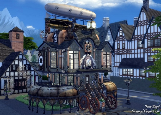 Ring In The Steampunk Decor To Pimp Up Your Home: Steampunk House At Frau Engel » Sims 4 Updates