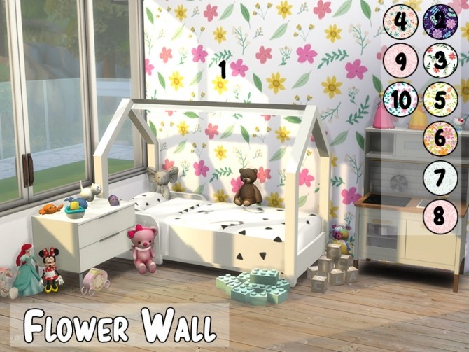 Flower Wall at MODELSIMS4 image 1304 670x503 Sims 4 Updates