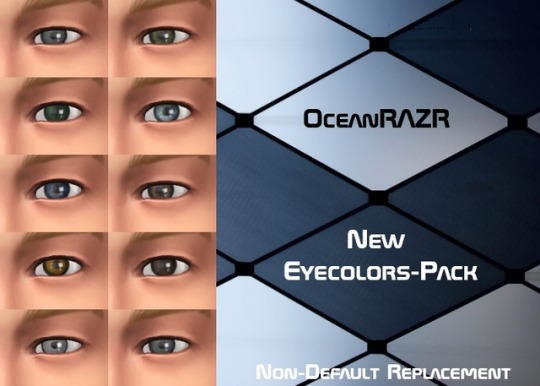 Sims 4 Eyecolors Pack at OceanRAZR