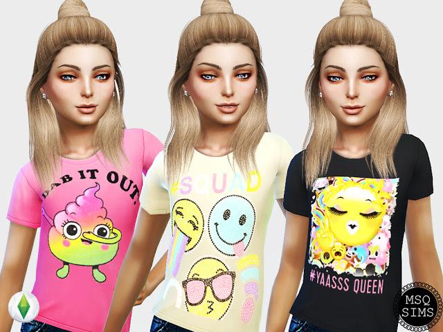 Sims 4 Emoji T Shirt at MSQ Sims