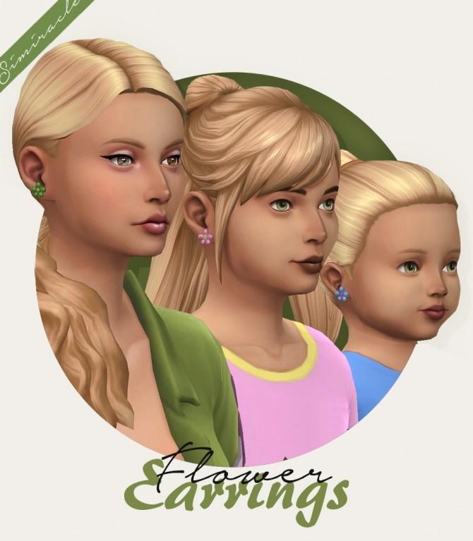 Seasons Flower Earrings Mesh Edit at Simiracle image 13114 670x767 Sims 4 Updates