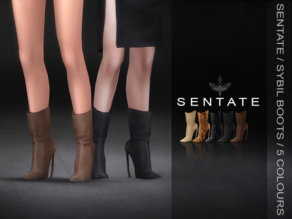 Sybil Boots by Sentate at TSR image 1318 Sims 4 Updates
