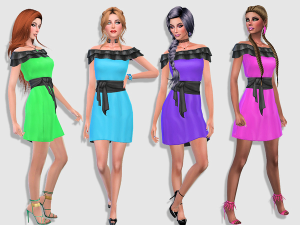 Delphine dress by Simalicious at TSR image 134 Sims 4 Updates