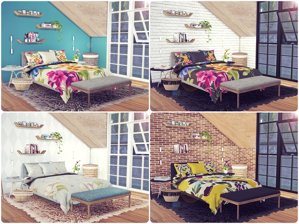 Floral Bedding 2 by Sooky at TSR image 1350 Sims 4 Updates