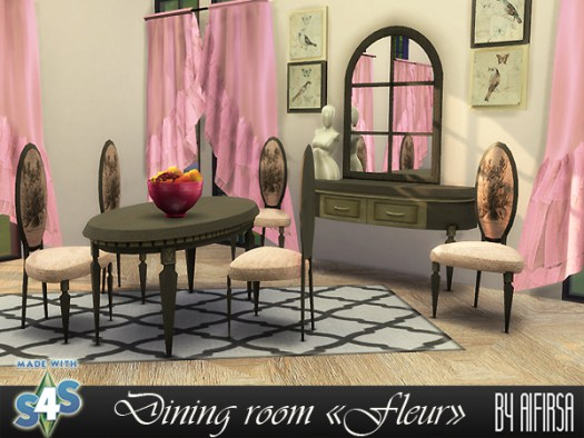 Fleur dining room at Aifirsa image 1377 Sims 4 Updates