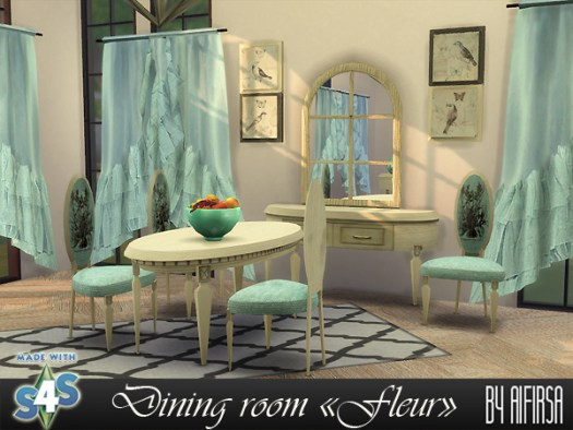 Fleur dining room at Aifirsa image 1387 Sims 4 Updates