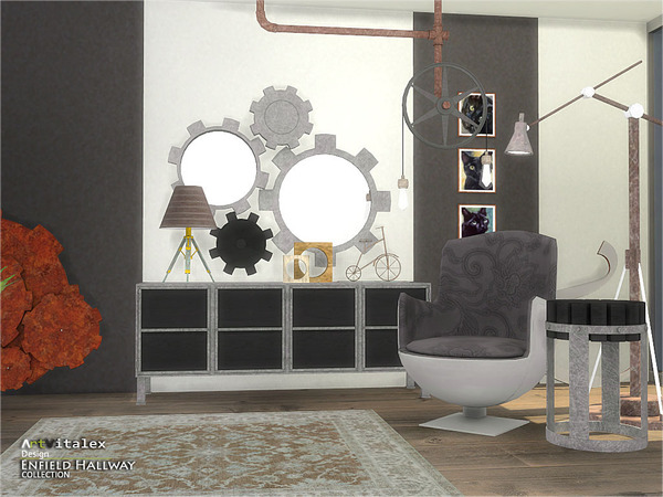 Sims 4 Enfield Hallway by ArtVitalex at TSR