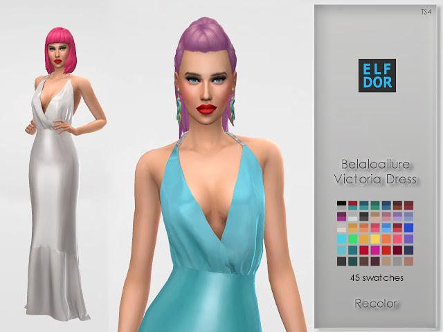 Belaloallure Victoria Dress Recolor at Elfdor Sims image 1445 Sims 4 Updates