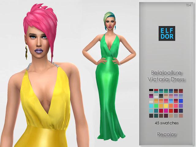 Belaloallure Victoria Dress Recolor at Elfdor Sims image 1455 Sims 4 Updates