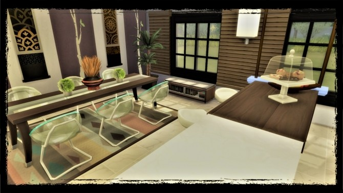 Sims 4 Wenge kitchen with exotic touch at Agathea k