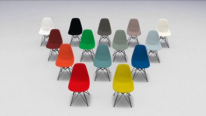 PLASTIC SIDE CHAIR COLLECTION (DSW AND DSR) at Meinkatz Creations image 1482 670x377 Sims 4 Updates