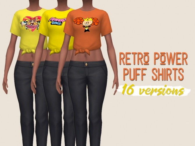 Sims 4 Retro 90s toon shirts at Midnightskysims