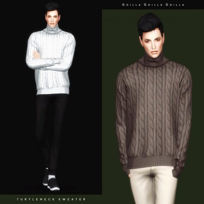 Sims 4 Turtleneck Sweater at Gorilla