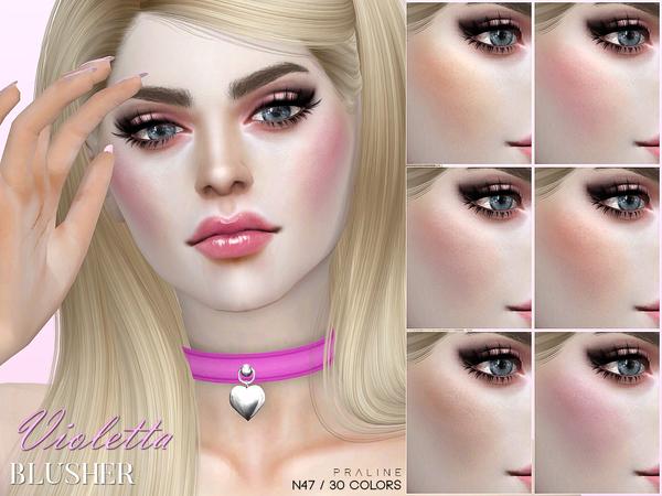 Violetta Blusher N47 by Pralinesims at TSR image 1516 Sims 4 Updates