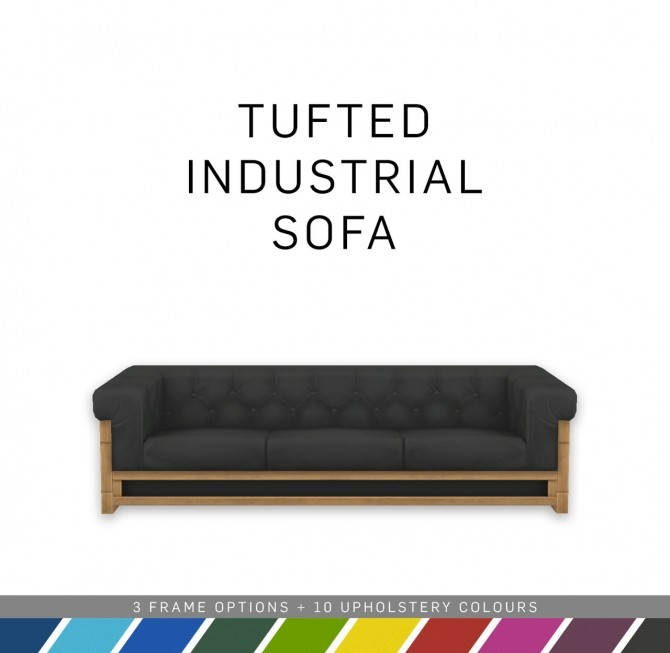 Tufted Industrial Sofa at SimPlistic image 1523 670x653 Sims 4 Updates