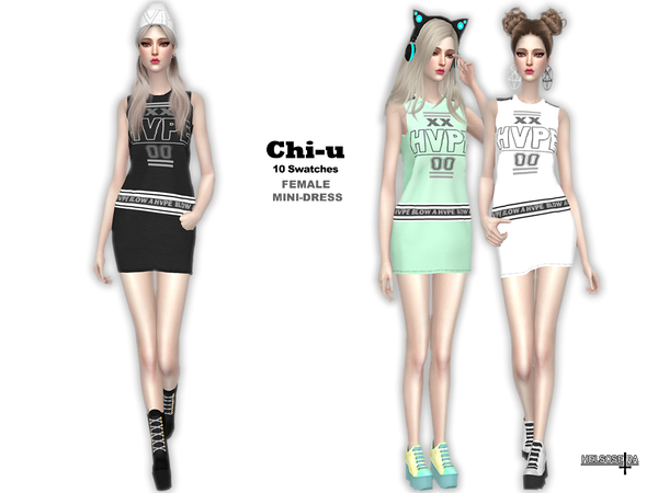 Sims 4 CHI U Mini Dress by Helsoseira at TSR
