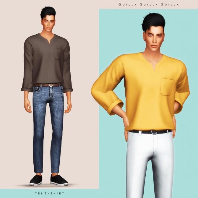 Tri T Shirt at Gorilla image 1553 670x670 Sims 4 Updates