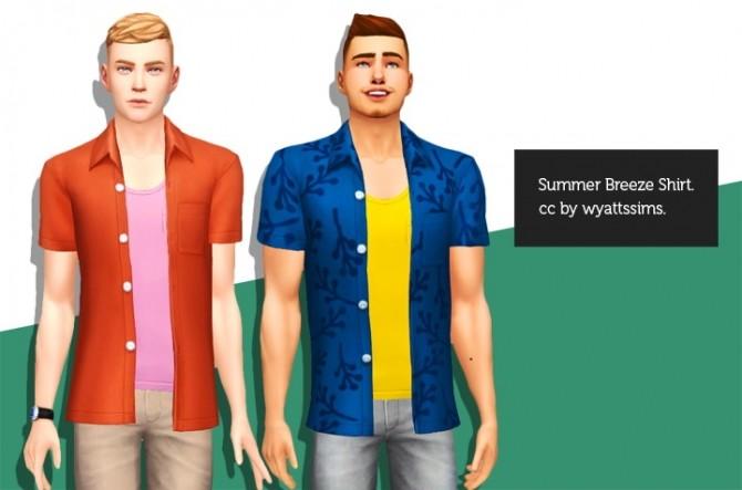 Sims 4 SUMMER BREEZE SHIRT at Wyatts Sims