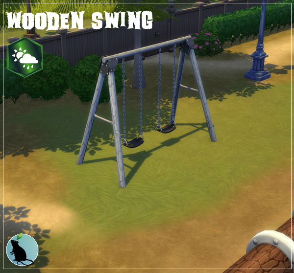 Wooden Swing by Standardheld at SimsWorkshop image 1588 Sims 4 Updates