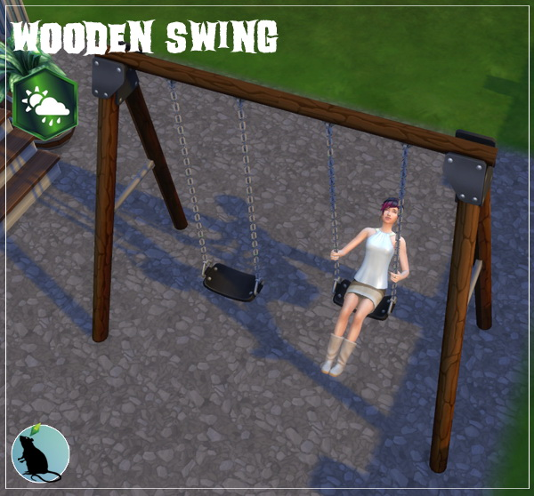 Wooden Swing by Standardheld at SimsWorkshop image 1597 Sims 4 Updates