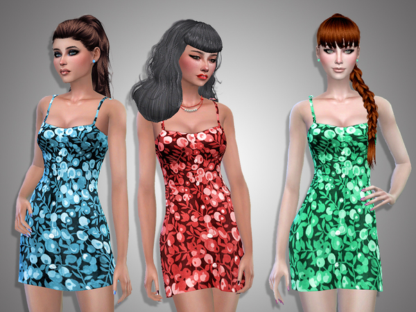 Irina flowered dress by Simalicious at TSR image 1627 Sims 4 Updates
