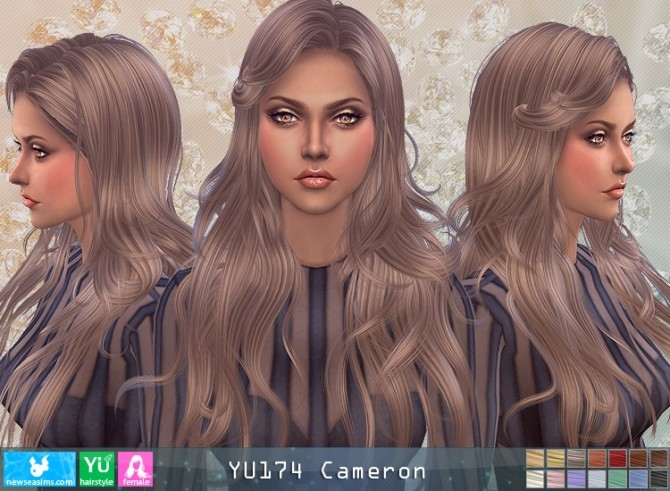J174 Cameron hair (P) at Newsea Sims 4 image 164 670x491 Sims 4 Updates