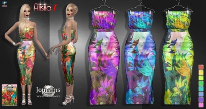 Alisila dress set at Jomsims Creations image 1684 670x355 Sims 4 Updates