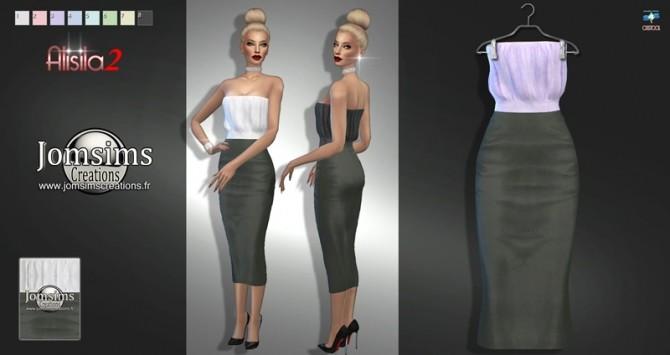 Sims 4 Alisila dress set at Jomsims Creations