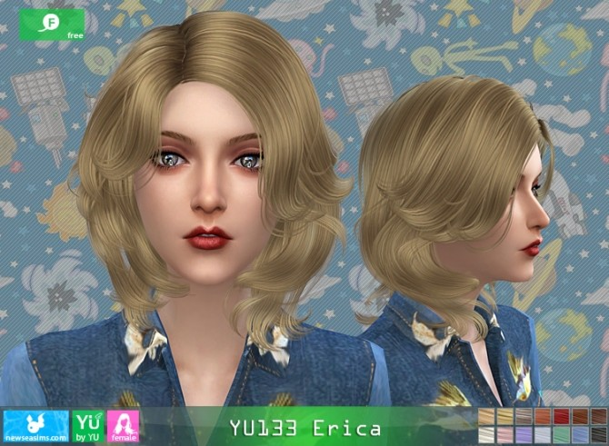 Sims 4 YU133 Erica hair at Newsea Sims 4