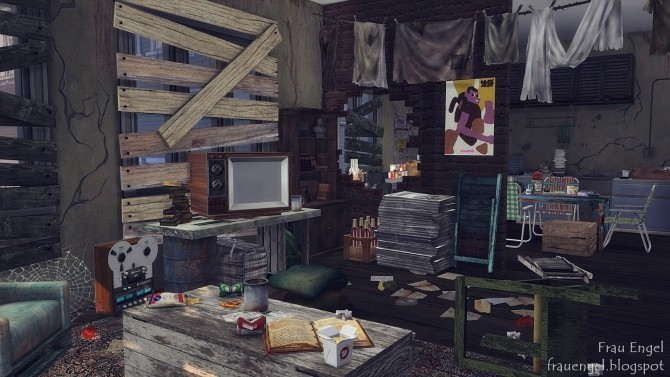 Abandoned apartment at Frau Engel » Sims 4 Updates