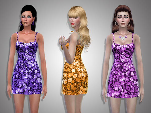 Irina flowered dress by Simalicious at TSR image 1727 Sims 4 Updates