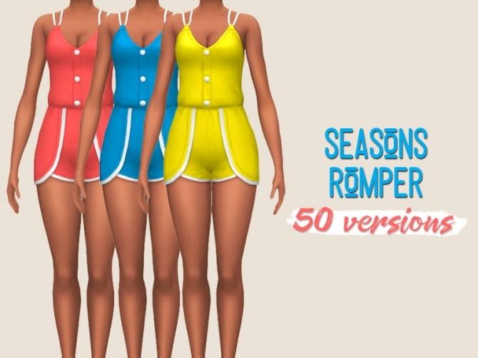 Sims 4 Seasons romper at Midnightskysims