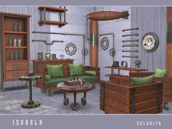 Sims 4 Isabela steampunk set by soloriya at TSR