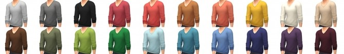 Pushed Up V Neck new sweater at Simsational Designs image 1782 670x105 Sims 4 Updates