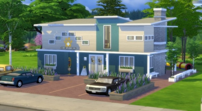 Sims 4 Les Animaux veterinary clinic by Pyrénéa at Sims Artists