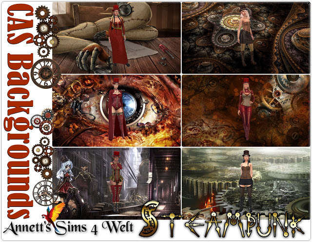 Steampunk CAS Backgrounds at Annett's Sims 4 Welt image 1792 Sims 4 Updates