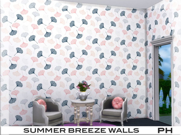Sims 4 Summer Breeze Walls 1 by Pinkfizzzzz at TSR