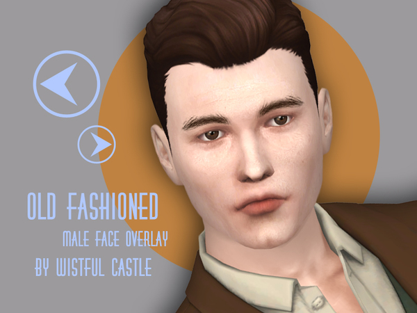 Old fashioned face overlay by WistfulCastle at TSR image 1830 Sims 4 Updates