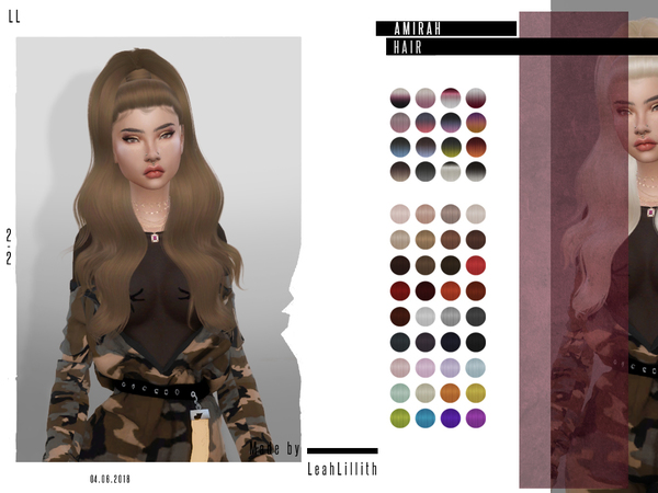 Amirah Hair by LeahLillith at TSR image 1831 Sims 4 Updates