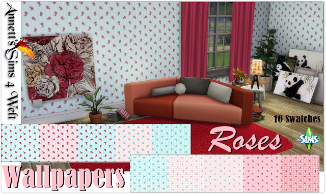 Little Roses Wallpapers at Annett's Sims 4 Welt image 1852 Sims 4 Updates