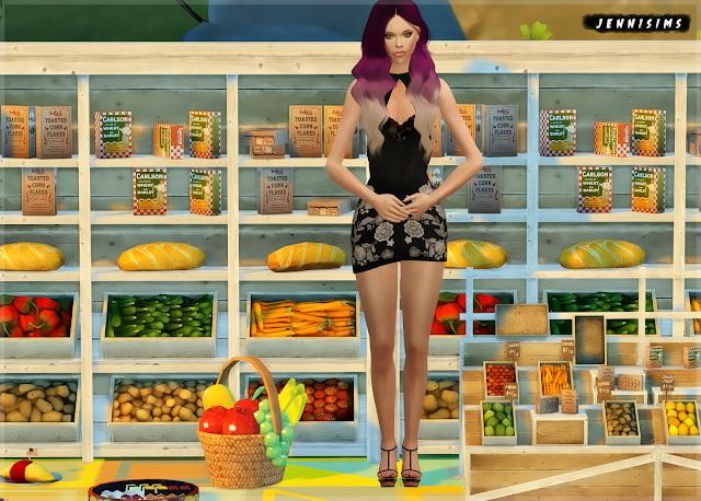 Marketplace, Food Decor (6Items) at Jenni Sims image 1854 Sims 4 Updates