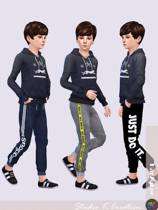 Jogger Sport Long Pants kids version at Studio K Creation image 186 670x893 Sims 4 Updates