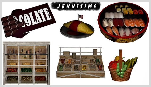 Marketplace, Food Decor (6Items) at Jenni Sims image 1864 Sims 4 Updates