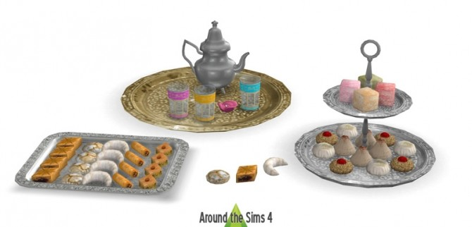 Sims 4 Middle Eastern edible pastries by Sandy at Around the Sims 4