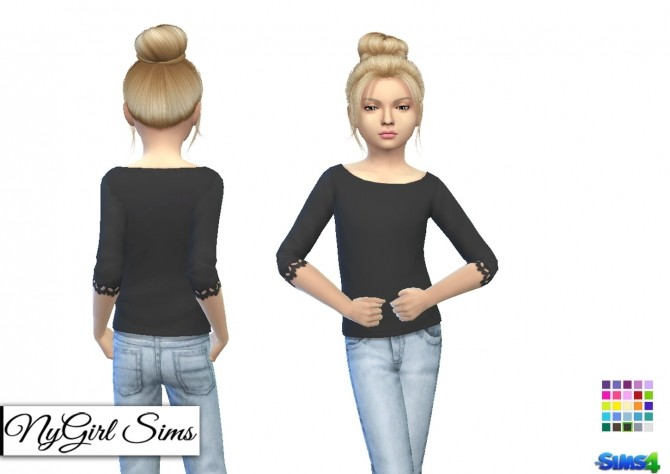 Wide Neck Lace Trim Sweater at NyGirl Sims image 1894 670x474 Sims 4 Updates