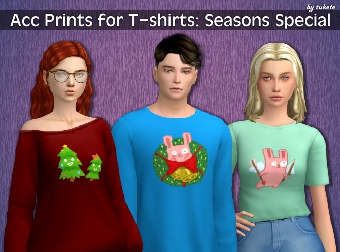 Acc Prints for T shirts Seasons Special at Tukete image 19114 670x496 Sims 4 Updates