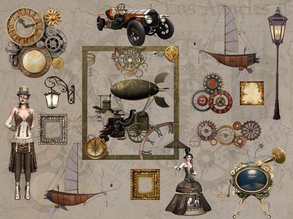 Sims 4 Wall decals Steampunk by Danuta720 at TSR